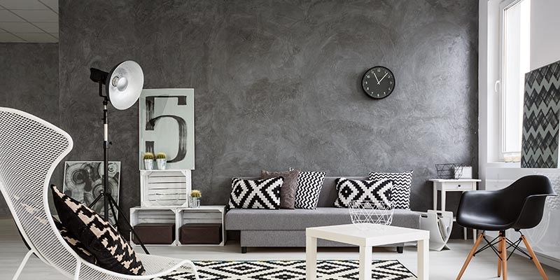 perfect combination gray and white floors concrete