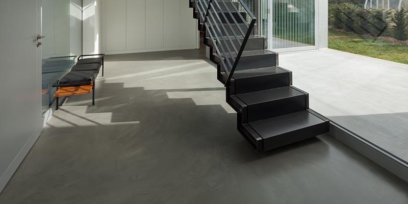 liquid resin floors lobby room