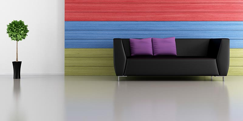 perfect decor gray with intense colors