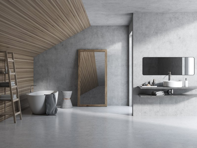 cement liquid porcelain bathroom floors