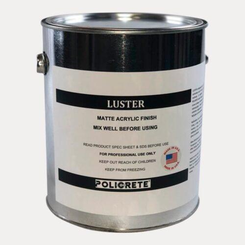 luster matte acrylic finish