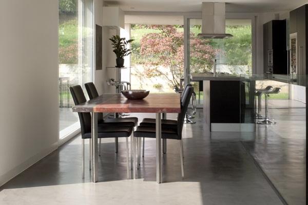 liquid porcelain residential dinning room floors