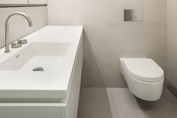 liquid porcelain residential bathroom