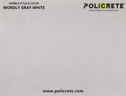 Marble Wordly Gray White